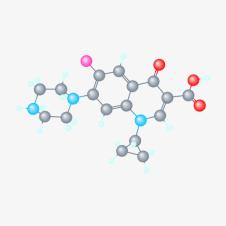 ciprofloxacin molecule